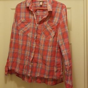 Mossimo supply co button up shirt